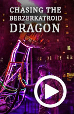 We follow the Berzerkatroid Dragon (an interactive Fire and Light Art installation by Artist Ron Simmer) across 3 art festival locations while the crew share stories of its creation, interaction and its effect on Children of all ages.